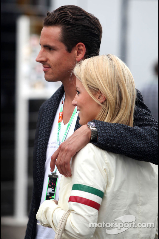 Adrian Sutil, and his girlfriend