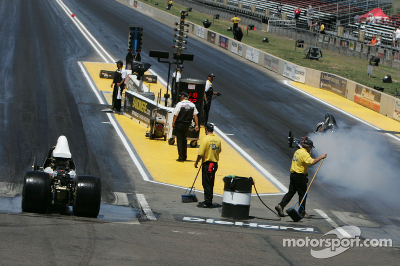 Starting line action at Banimere Speedway, Morrison, Co.