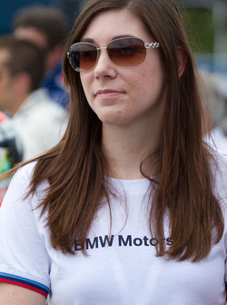 BMW Team RLL flag girl