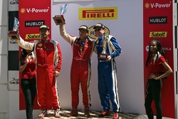 458CS Podium Race 1  #007 Ferrari of Ontario 458CS: Robert Herjavec  #47 Ferrari of Houston 458CS: Darren Crystal  #56 Ferrari of Ft. Lauderdale 458CS: Jose Valera