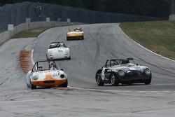 #8 1958 Porsche 356: Paul Swanson #341 1962 Elva Courier : Brian Davis