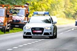 Audi RS5 Medical car brings up the rear