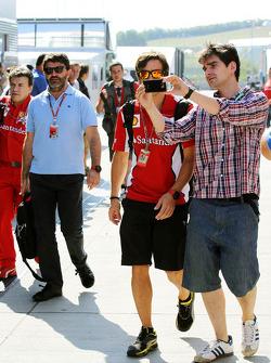 Pat Fry, Ferrari Deputy Technical Director and Head of Race Engineering has his photo taken by a fan