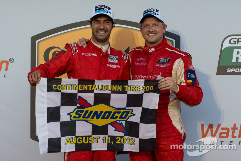 Race winners Lucas Luhr and Ryan Dalziel