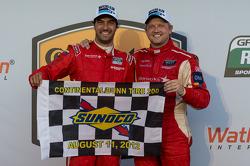 Race winners Lucas Luhr and Ryan Dalziel
