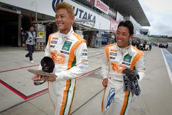 GT300 pole winners Hiroki Yoshimoto and Kazuki Hoshino