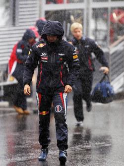 Sebastian Vettel, Red Bull Racing during a heavy rain shower