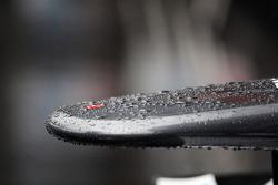 Rain drops on the Sauber nosecone