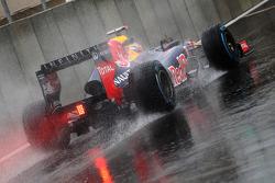 Sebastian Vettel, Red Bull Racing leaves the pits