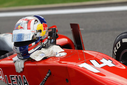 The helmet of Stefano Coletti during red flag