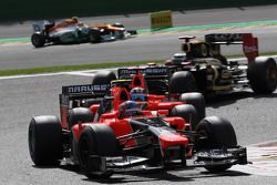 Charles Pic, Marussia F1 Team leads Timo Glock, Marussia F1 Team