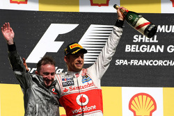 Paddy Lowe, McLaren Mercedes en Jenson Button, McLaren Mercedes