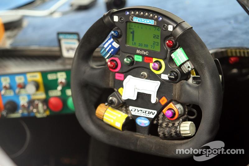 Dyson steering wheel detail