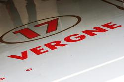 Pit floor logo for Jean-Eric Vergne, Scuderia Toro Rosso