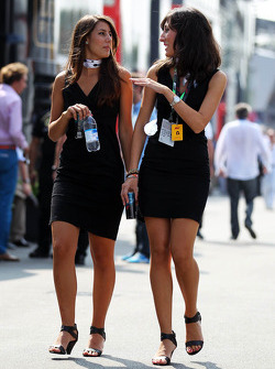 Women in the paddock