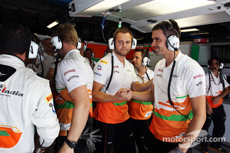 Sahara Force India F1 Team viert vierde plaats in kwalificaties voor Paul di Resta, Sahara Force Ind