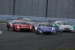 #23 Nismo Nissan GT-R: Satoshi Motoyama, Michael Krumm, #100 Team Kunimitsu Honda HSV-010 GT: Takuya Izawa, Naoki Yamamoto, #36 Lexus Team Petronas Tom's Lexus SC430: Kazuki Nakajima, Loic Duval