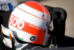 Helmet for Wade Cunningham, A.J. Foyt Racing Honda