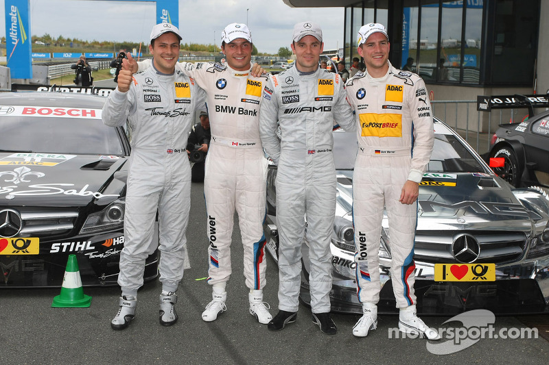 Eerste vier, Gary Paffett, Team HWA AMG Mercedes, AMG Mercedes C-Coupe, Bruno Spengler, Team HWA AMG