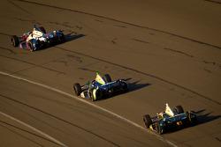 Marco Andretti, Andretti Autosport Chevrolet, Tony Kanaan, KV Racing Technology Chevrolet and Ed Carpenter, Ed Carpenter Racing Chevrolet