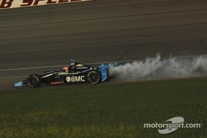 Barrichello on his last 2012 Indycar race.