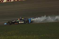 Rubens Barrichello, KV Racing Technology Chevrolet in smoke