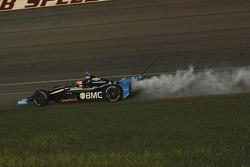 Rubens Barrichello, KV Racing Technology Chevrolet in smoke