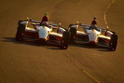 EJ Viso, KV Racing Technology Chevrolet and Charlie Kimball, Novo Nordisk Chip Ganassi Racing Honda