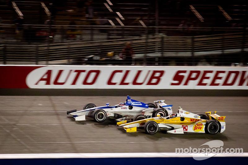 Takuma Sato, Rahal Letterman Lanigan Honda and Ryan Hunter-Reay, Andretti Autosport Chevrolet