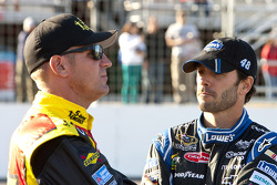 Clint Bowyer and Jimmie Johnson