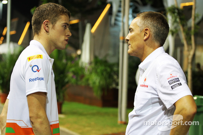 Paul di Resta, Sahara Force India F1 with Martin Whitmarsh, McLaren Chief Executive Officer