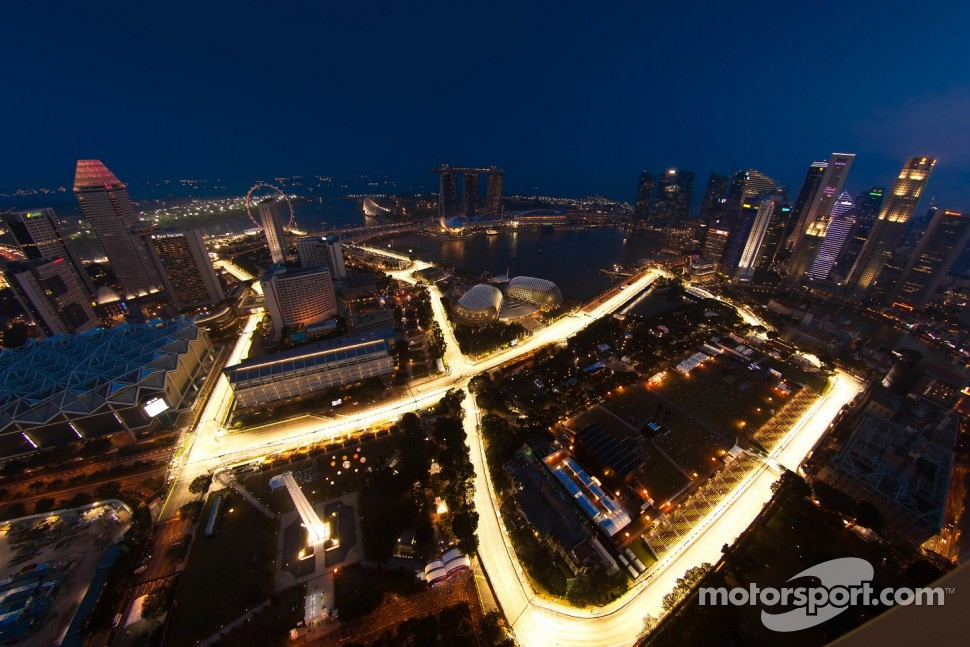 An aerial view of the circuit