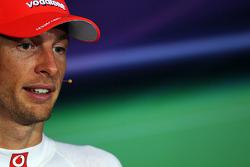 FIA press conference: second place Jenson Button, McLaren Mercedes