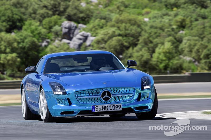 The Mercedes-Benz AMG SLS electric car