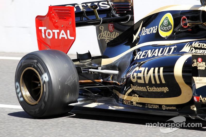 Romain Grosjean, Lotus F1 motorkap en ophanging