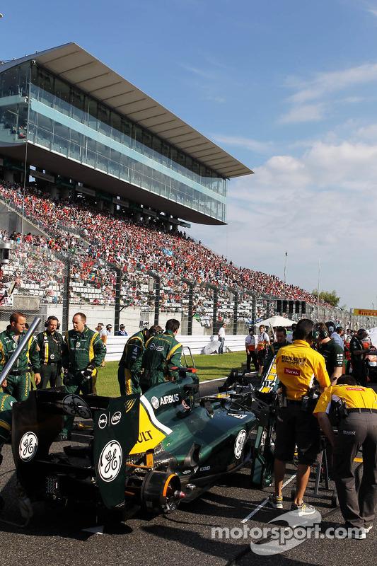Heikki Kovalainen, Caterham on the grid