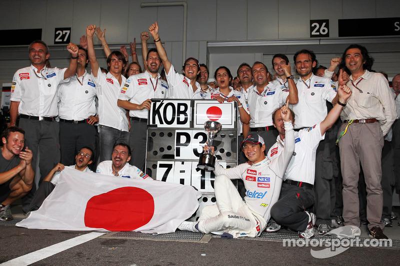 Kamui Kobayashi, Sauber vierde derde plaats met team