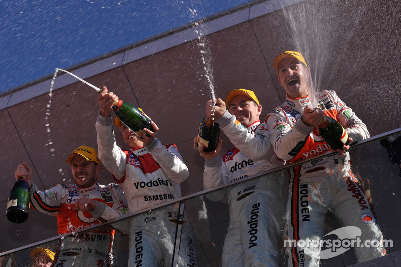 Team Vodafone on the podium