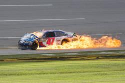 Feuer: Bobby Labonte, JTG Daugherty Racing, Toyota