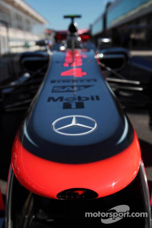 McLaren MP4/27 nosecone of Lewis Hamilton, McLaren