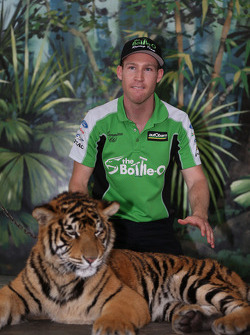 David Reynolds visits tigers at Dreamworld