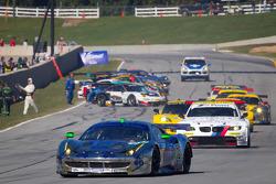 #01 Extreme Speed Motorsports Ferrari F458 Italia: Scott Sharp, Johannes van Overbeek, Toni Vilander heads to pace lap