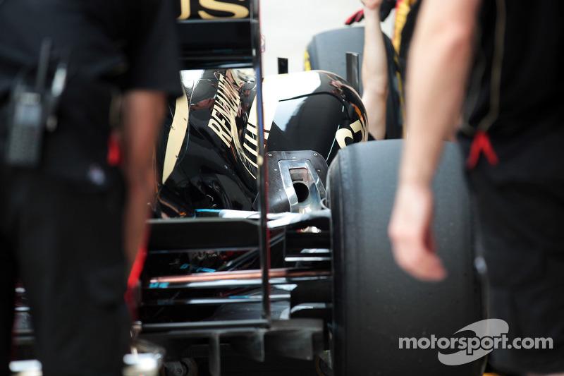 Lotus F1 uitlaat