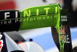 Red Bull Racing rear wing with flow-vis paint
