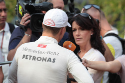 Michael Schumacher, Mercedes AMG Petronas with the media