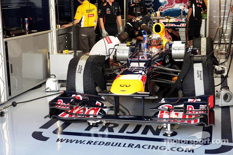 罗宾·弗林斯测试红牛赛车