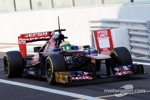 Luiz Razia testing for Toro Rosso this year.