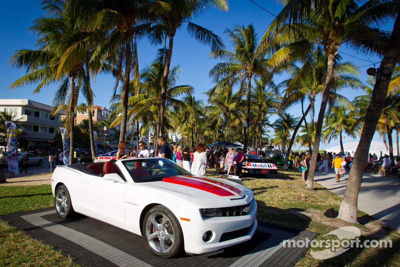 NASCAR Championship Drive in South Beach: cars on display