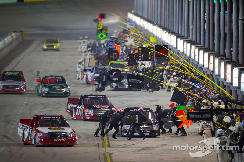 Parker Kligerman, Red Horse Racing Toyota leads the field on pitlane