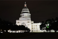 Texas State Capitol in Austin at night
